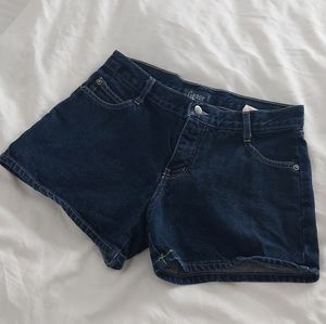 VINTAGE DARK WASH DENIM SHORTS